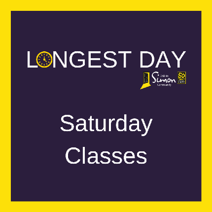 The Longest Day 2020 - Saturday Classes - I would like to book a place on a Saturday class