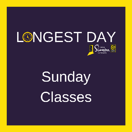 The Longest Day 2020 - Sunday Classes - I would like to book a place on a Sunday class